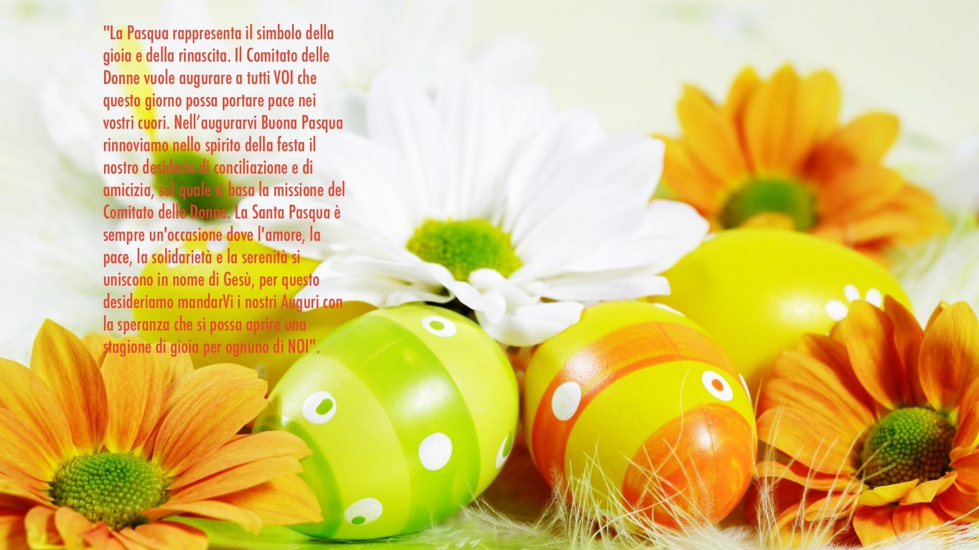 Buona Pasqua da tutto Il Comitato delle Donne